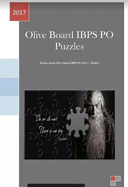Free Oliveboard REASONING PUZZLES  PDF Download