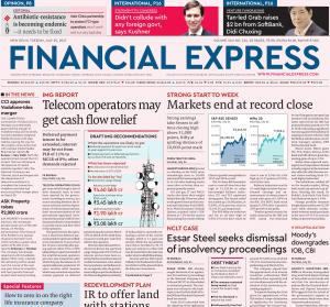 Epaper Financial Express 18th October